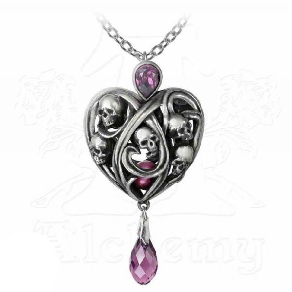 ALCHEMY GOTHIC Keepers of the Tyrian Heart Necklace